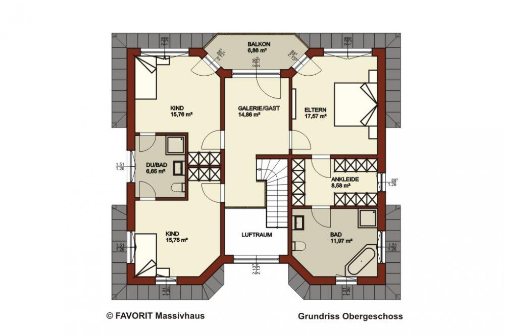 Wohnen/Essen, 3 Schlafzimmer, Küche, Kinderbad, HWR, Gästezimmer, Galerie,  Dusch WC, Diele, Balkon, Bad, Ankleide